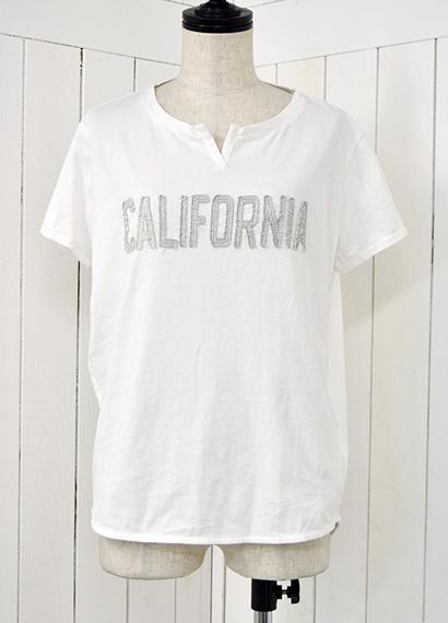 カリフォルニア ヘンリーネックTシャツ